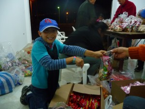 Martin packing candies